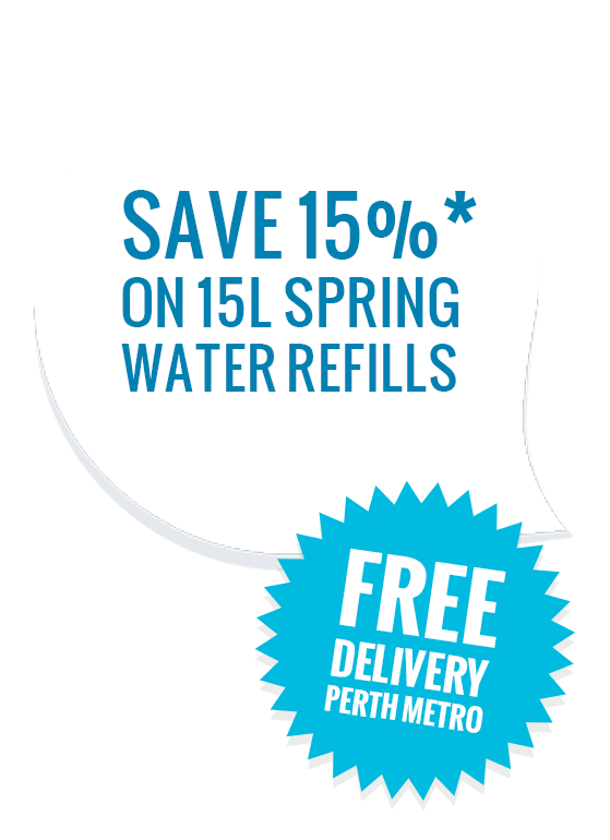 Save 15% on 15L Spring Water Refills