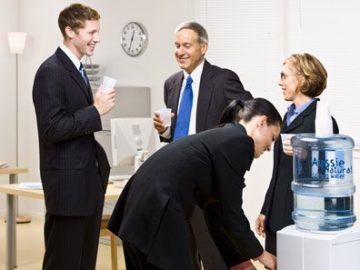 A Study Shows That Gathering Around the Water Cooler Raises Staff Wellbeing