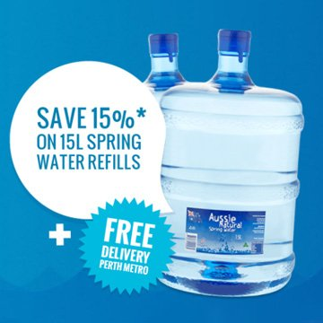 Save 15% on 15L Spring Water